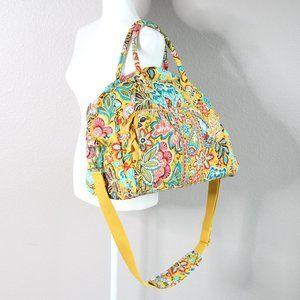 Vera Bradley Yellow Floral Duffle Weekender Bag